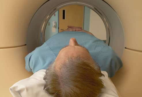 Older Man Getting Brain Scan
