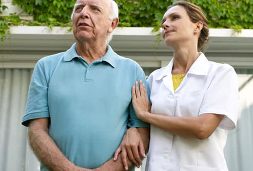 Nurse Talking to Older Man