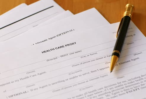 Health Care Forms on Table