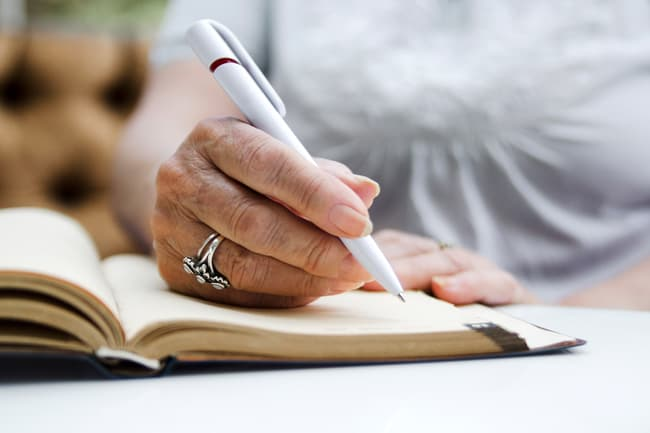 photo of taking notes