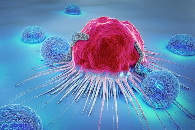 photo of cancer cell illustration