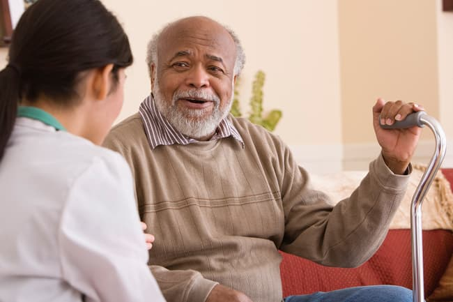 photo of mature man in doctors appointment