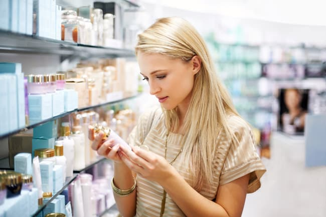 photo of shopping for beauty cream