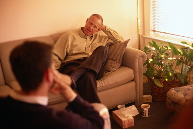 photo of man in therapy