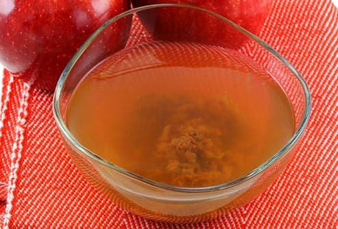 mother of apple cider vinegar in bowl