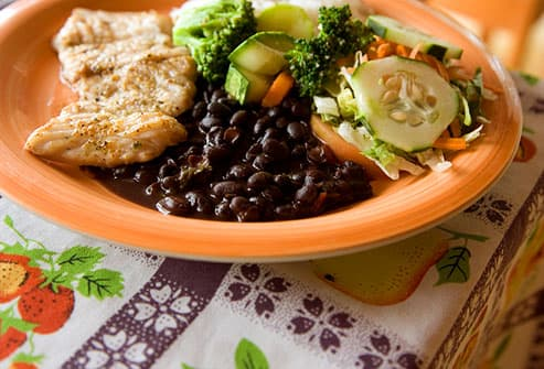 Traditional Cuban dish with black beans
