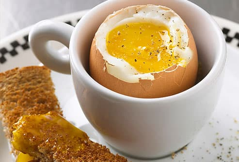 Boiled Egg and Wheat Toast