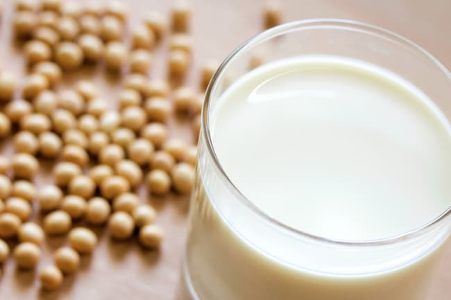 photo of soy milk