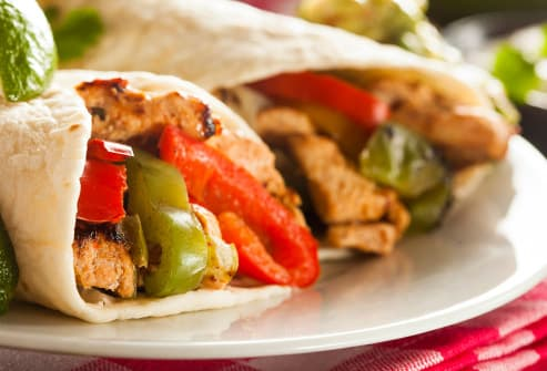 chicken fajitas with vegetables