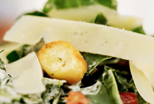 ceasar salad close up
