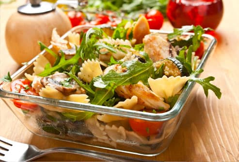 Chicken and Pasta Salad with Vegetables