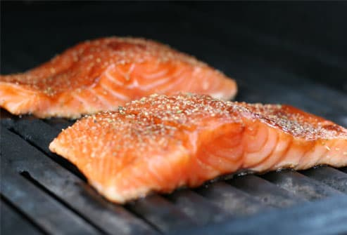 Salmon Filets on Grill