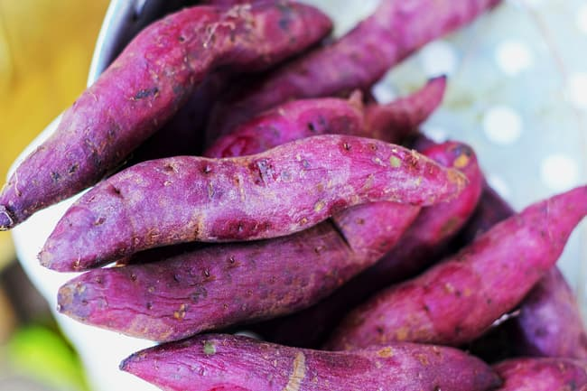 photo of purple sweet potato