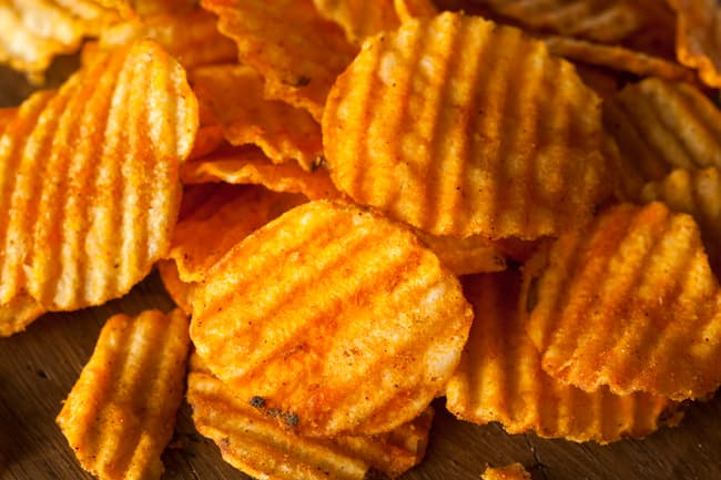 photo of barbeque chips