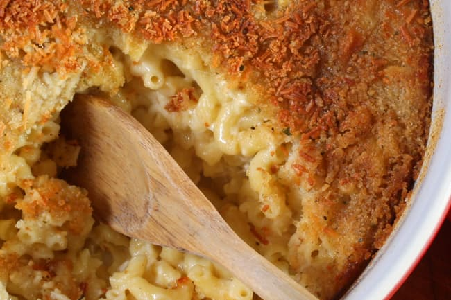 photo of baked mac and cheese