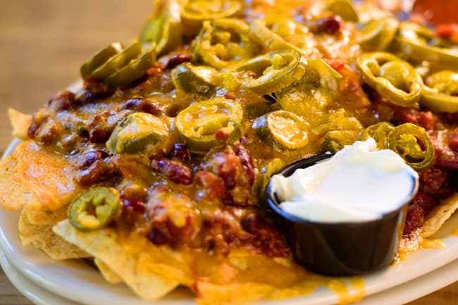 photo of plate of nachos