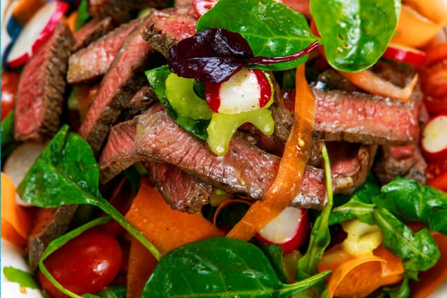 photo of steak salad