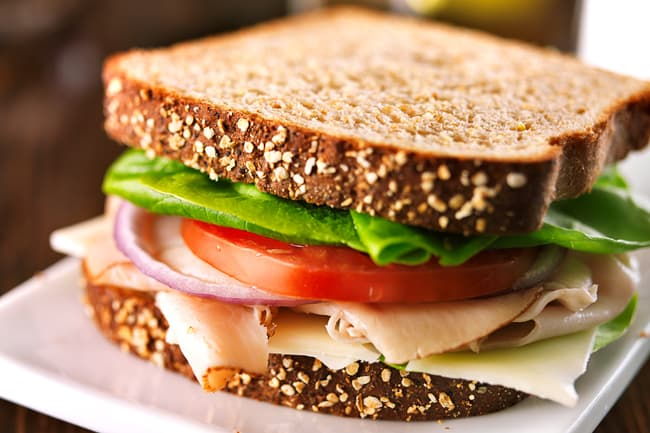 photo of turkey sandwich
