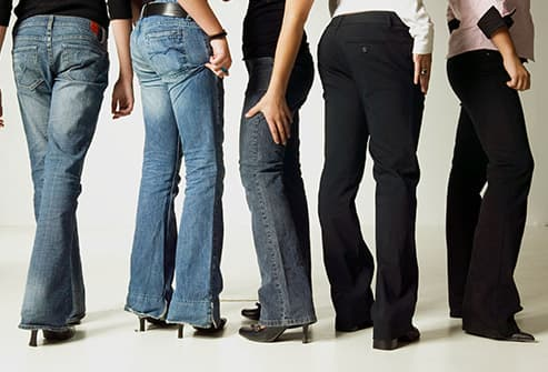 women wearing flared pants
