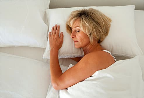 mature woman sleeping soundly