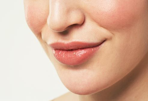 woman with botox in lips