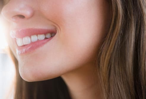 profile of smiling woman