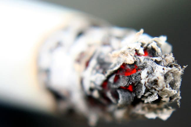 photo of cigarette ash
