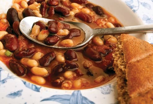 bean soup with bread