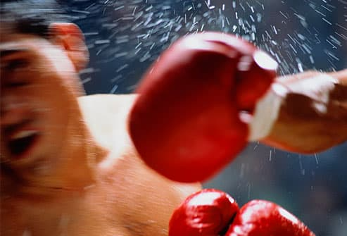 boxer punched in head