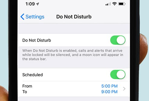 do not disturb settings in phone
