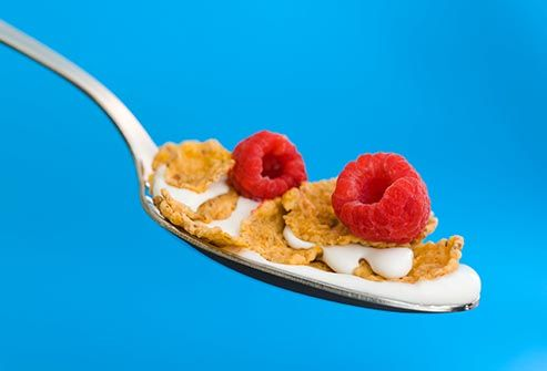 cereal on spoon