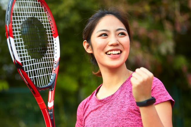 photo of woman playing tennis