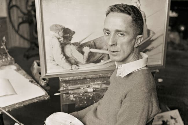 photo of norman rockwell