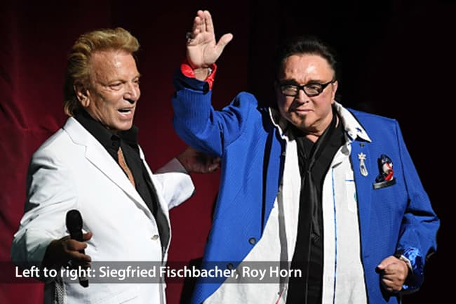 photo of siegfried fischbacher and roy horn