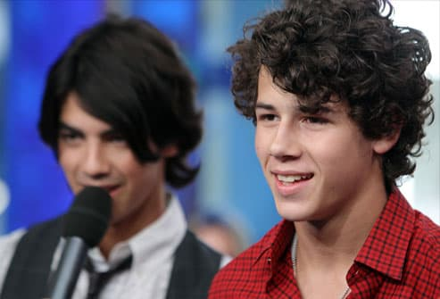 Nick Jonas (R) and Joe Jonas of The Jonas Brothers