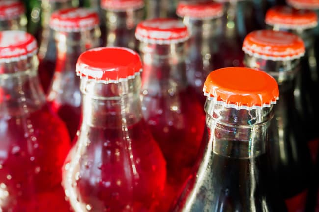 photo of soda bottles
