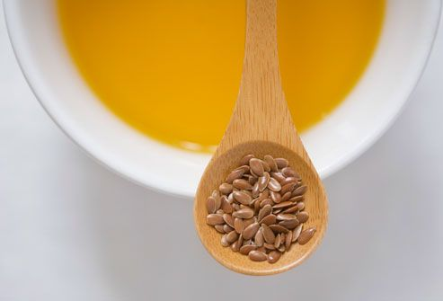 Spoon Of Flax Seeds