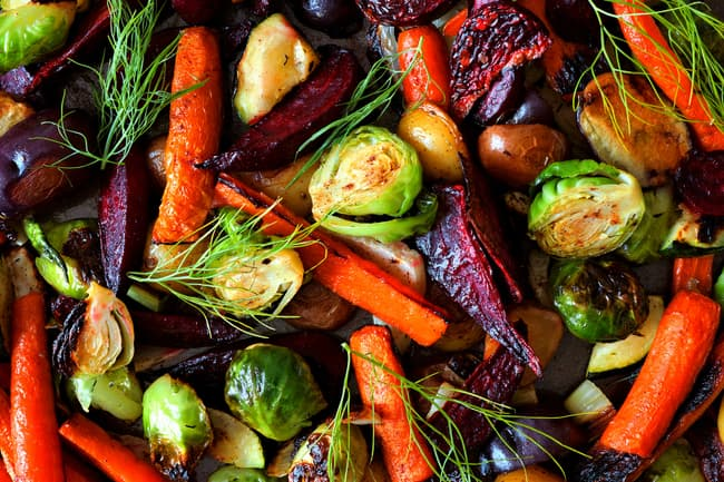 photo of mixed roasted vegetables
