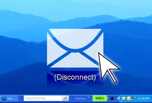 Icon Showing Email Disconnect Option