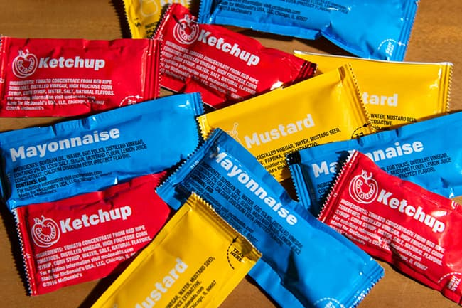 packets of condiments