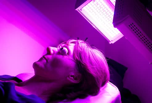 light therapy on scalp