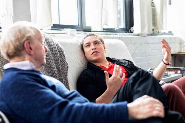 photo of family discussion