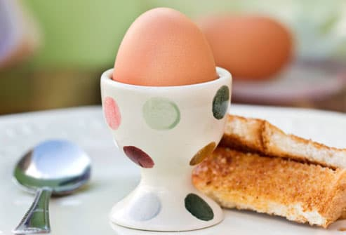 Toast and Boiled Egg Breakfast