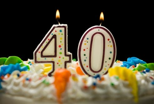 fortieth birthday cake candles
