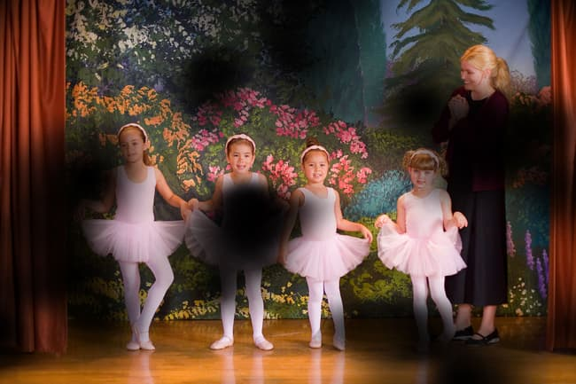 photo of ballet recital