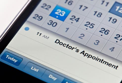 appointment reminder on smart phone