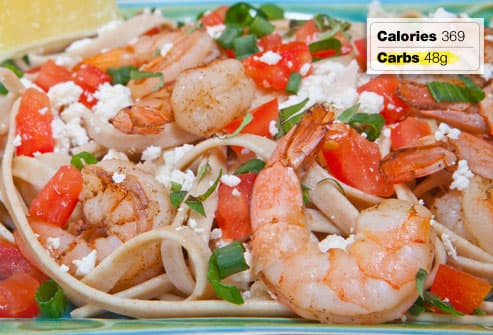 shrimp and feta pasta