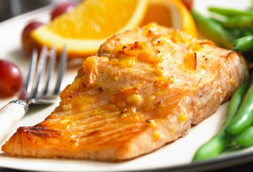 Salmon Filet with Green Beans