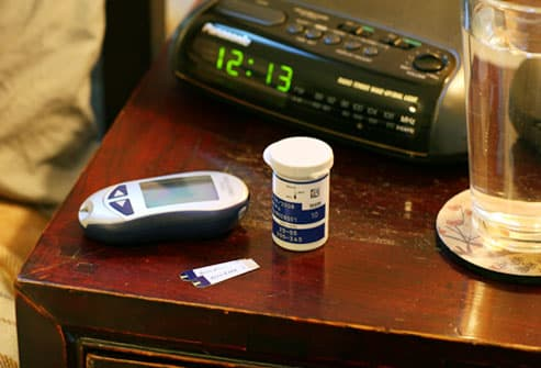 Glucose Monitor Next to Bed