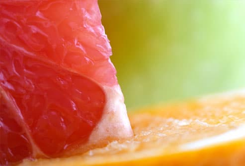 Close up of grapefruit & orange slices